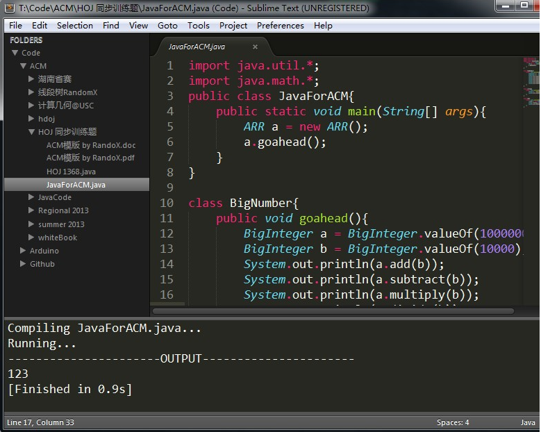 sublime text 3快捷键