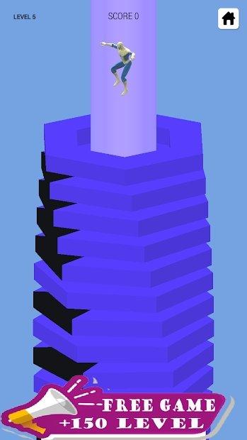 超级螺旋碰撞坠落球3D截图2